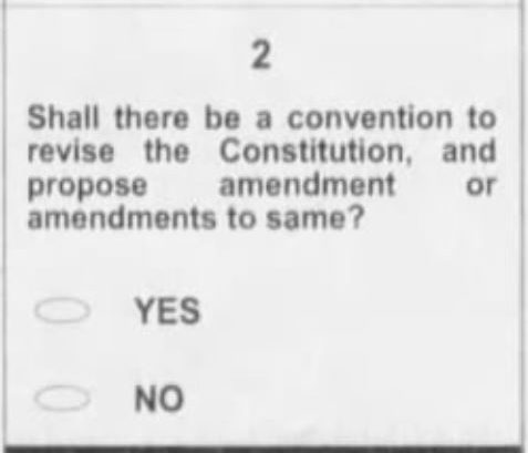 The constitutional convention question as it appeared on the ballot in 2010.